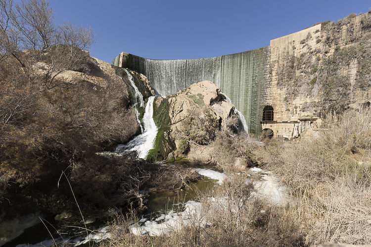 Views of the Elche swamp in winter. Province of Alicante in Spain. Agriculture Elche Scenic Swamp Vinalopo Architecture Cascade Flowing Water Irrigation Reservoir Rock Formation Scenics Sky Water Waterfall