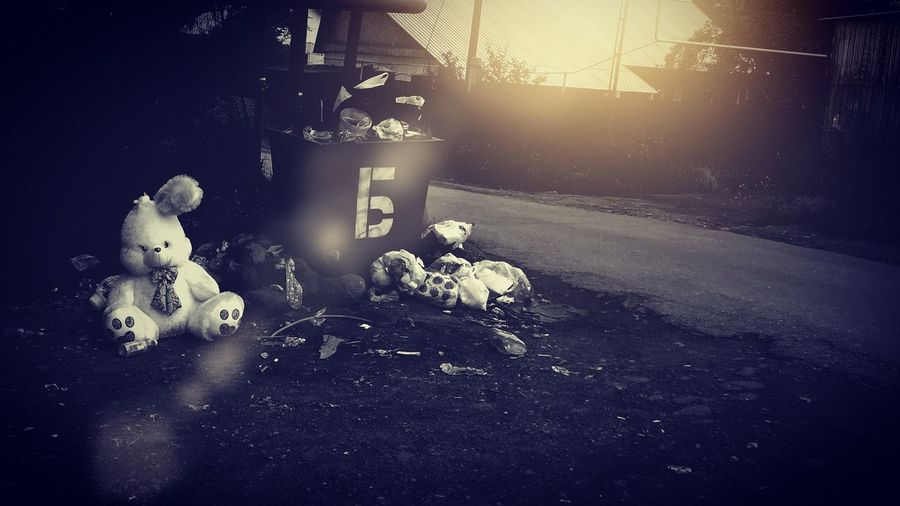 Somewhere in morning. Garbage Toys Morning Light Color One Story