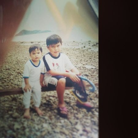 Eventhough we always punch each others, we still have the same blood.. we're blood bros.. Respect Soria 1999 Beach 3yearsold chubby short