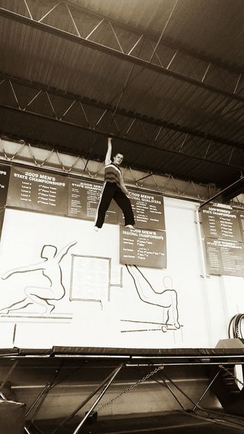 Just hanging from the ceiling. Parkour Parkour And Free Running Parkour Love <3 Ceiling Defying Gravity