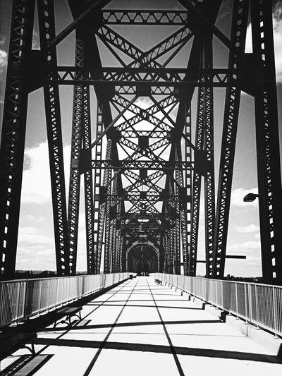 Black & White Train Bridge
