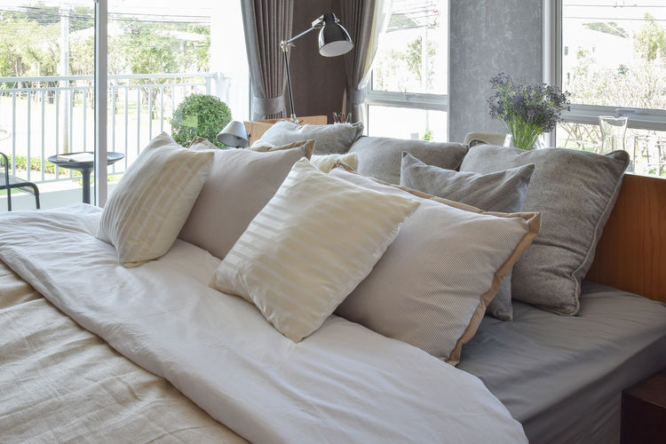 Sofa on bed at home