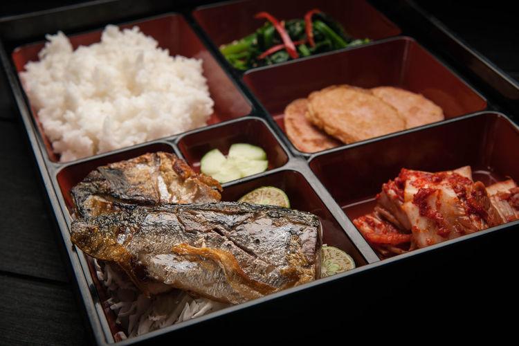 Saba set meal Asian Cuisine Korean Cuisine Korean Food Asian Food Bento Box Food Saba Fish Set Meal