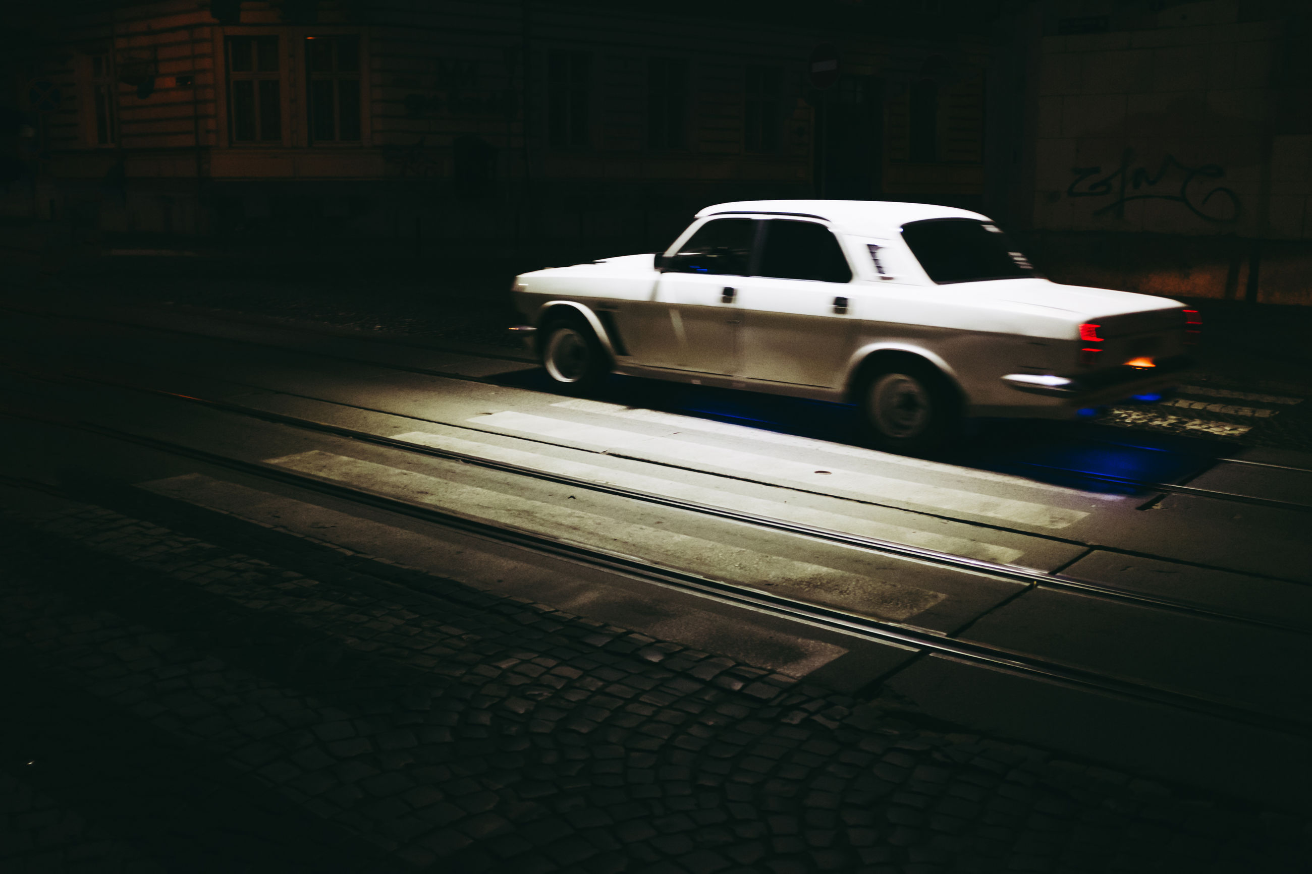 transportation, car, city, no people, architecture, outdoors, night