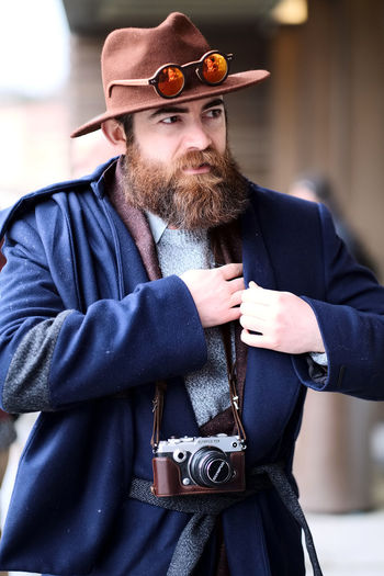 Photos taken at 91th edition of Pitti Uomo in Florence, Italy. Check out my blog for the full story. Beard Fashion Fashion Photography Fashionable Fashionblogger Fashionista Fashionphotography Flat Cap Hipster - Person Individuality Malefashion Photographer Pittiuomo Streetfashion Style Stylish Vintage