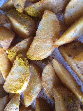 Food Wedges Potatoes Snacks! Currypowder