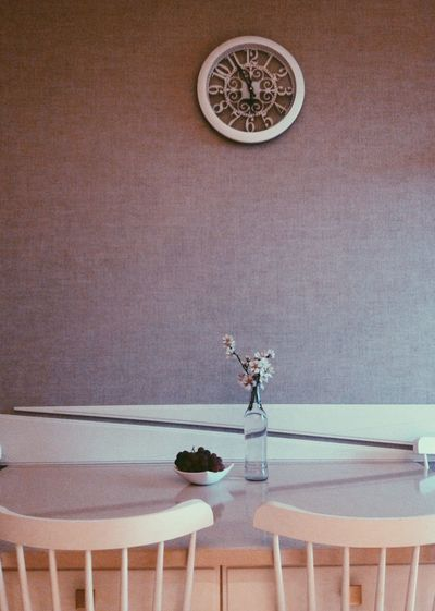 Absence Architecture Chair Clock Decoration Empty Flower Flowering Plant Furniture Home Interior Indoors  Lighting Equipment Nature No People Plant Seat Still Life Table Vase Wall - Building Feature 50 Ways Of Seeing: Gratitude