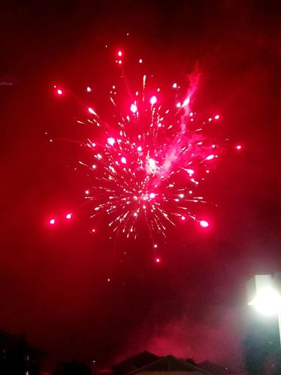 New Years Fireworks New Years 2019 Red Firework Display Celebration Event Entertainment Firework