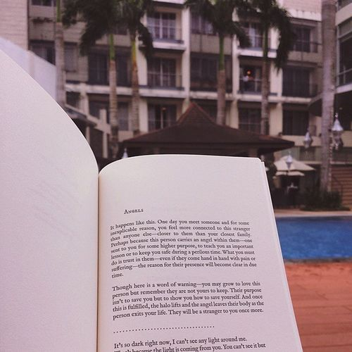 Reading in solitude whilst watching over the kids. Loveandmisadventure Langleav 😍📖📚