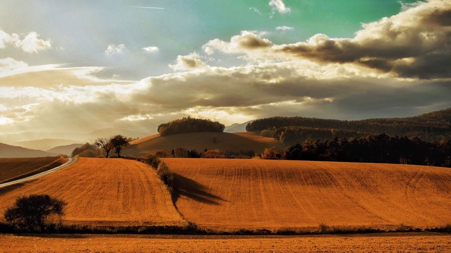 Landscape Sky Cloud - Sky Scenics Nature Field Beauty In Nature Outdoors Agriculture Tranquility Tranquil Scene Rural Scene No People Tree A Photo Like A Painting Daily Inspiration Capture The Moment Vienna Alps Austria