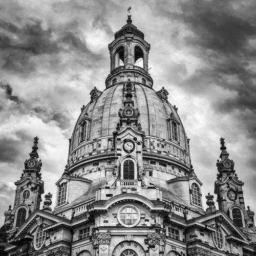 Dresden Frauenkirche Black And White