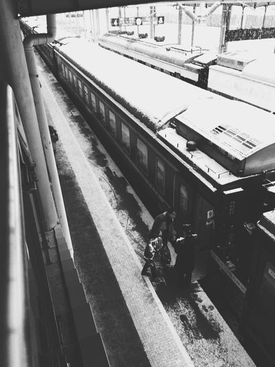 Where You Leave Traveling In China Train Taking Photos Black And White Photography