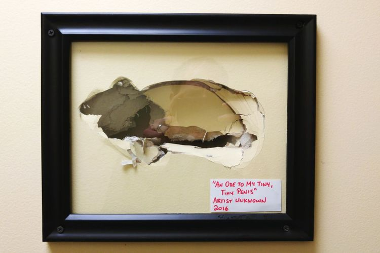 Hole in the wall. An ode...Artist Unknown. Picture Frame Art Vandalism Ellington Connecticut Bar