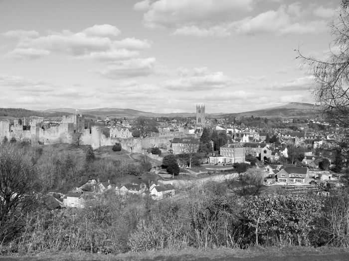 Ludlow LudlowMarket View Architecture Beauty In Nature Building Exterior Built Structure Day Landscape Ludlow Castle Ludlow Shropshire Monochrome Mountain Nature No People Outdoors Scenics Sky Tree