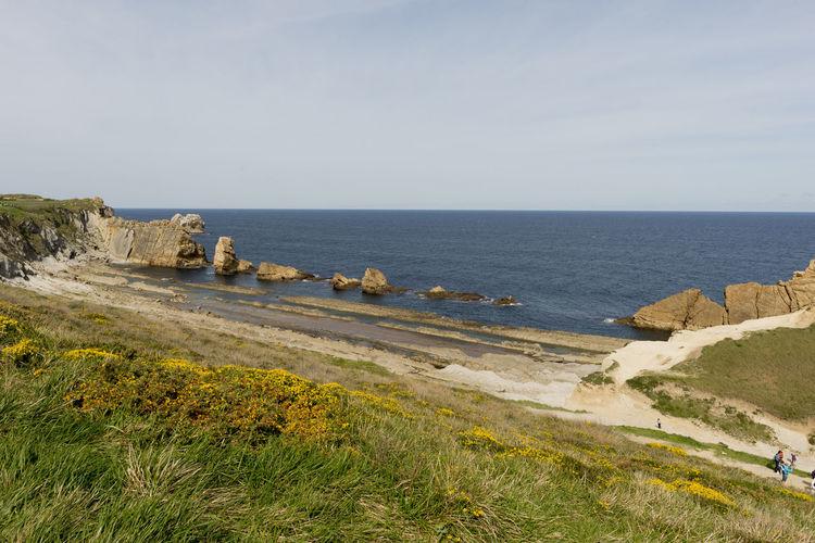 Cantabria Arnia Beach Coast Landscape Ocean Sea Water