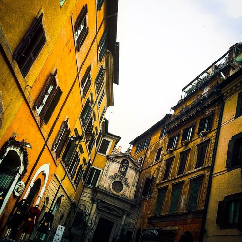Architecture Balcony Building Exterior Built Structure City Houses Italian Style Italy Low Angle View Sky Window
