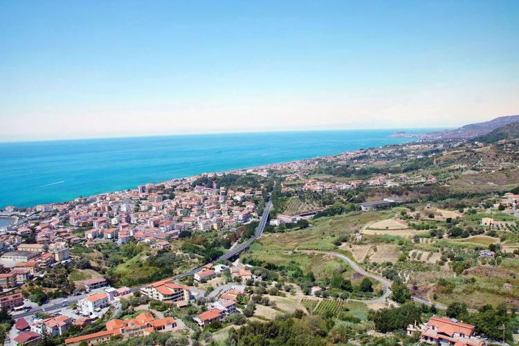 Sea Water Architecture Building Exterior Building City Nature Sky Horizon Built Structure Residential District Horizon Over Water Clear Sky No People Scenics - Nature Day Outdoors Cityscape TOWNSCAPE Calabria Landscape Aerial View Belvedere Marittimo  Italy Cosenza