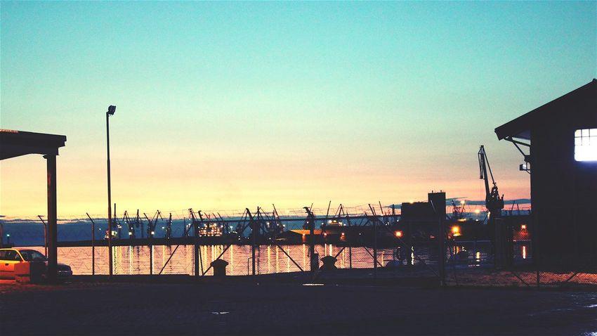 Thessaloniki Limani Sun Sunset Afternoon Thermaikos