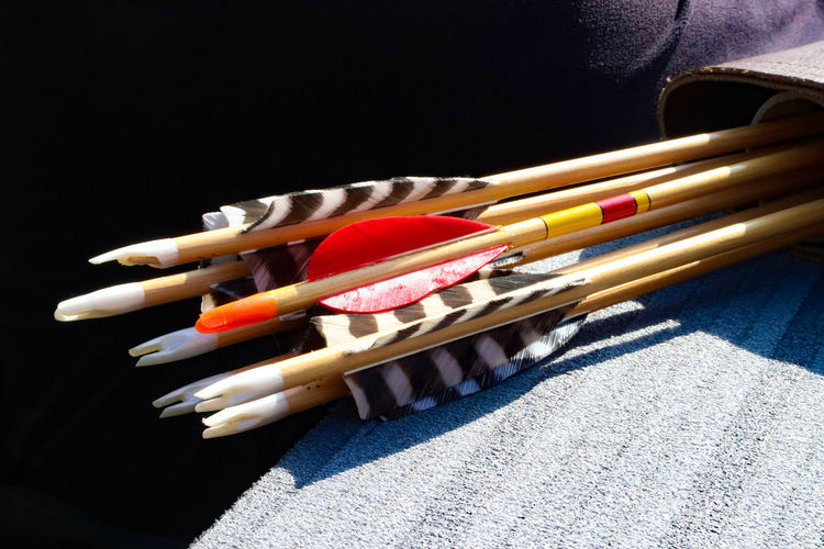 Archery Archery Arrows Multi Colored Close-up