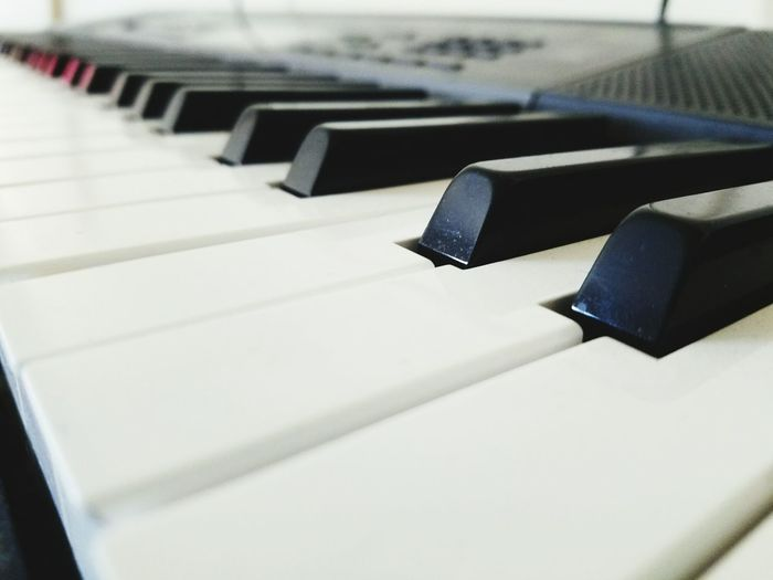 Close-up of synthesizer