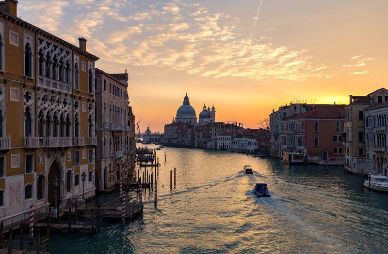 Morning from ponte dellaccademia bridge