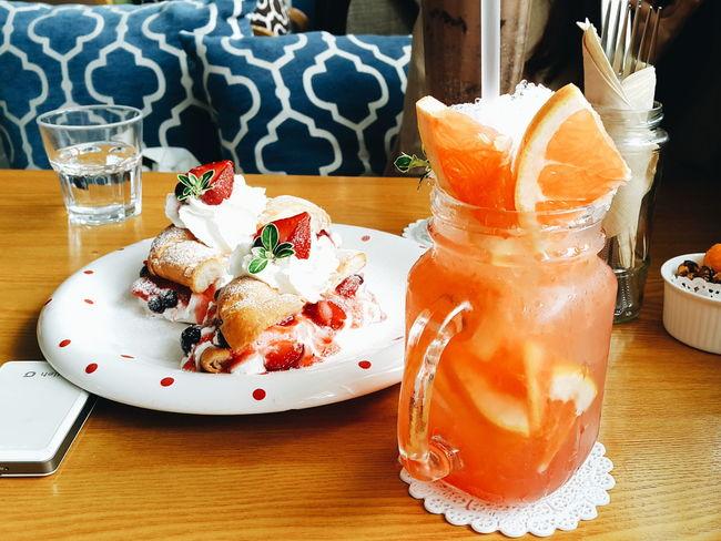 Yummy Food Grapefruit Korea Cafe Bread Breaktime