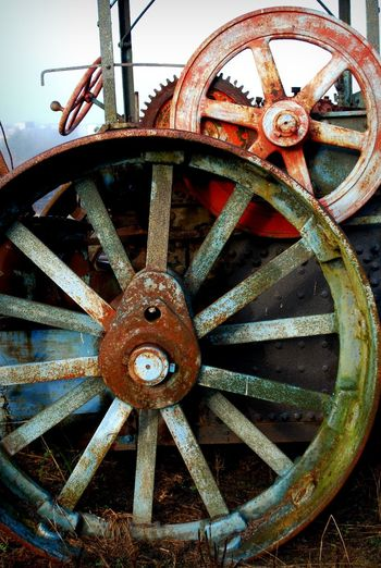 Abandoned Railroad Abandoned Abandoned Equipment Beauty Of Decay Close-up No People Old-fashioned Railroad Steamroller Wheel Wheels