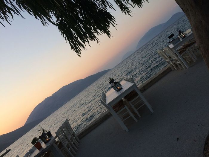 Sami Cefalonia Grecia Architecture Sunset Built Structure Sea Building Exterior Outdoors Nature Beach Tree Water Scenics Real People Beauty In Nature Sand Clear Sky Men Sky Day One Person People Femalephotographerofthemonth 43GoldenMoments