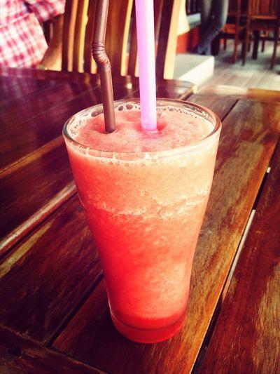 Very refreshing watermelon shake