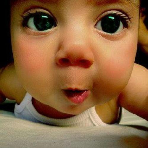 Baby Green Eyes Cute