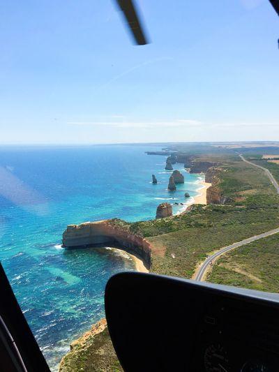 第一次坐直升飞机✈️ 大洋路 十二门徒 View 12 Apostles The Great Ocean Road, Victoria Helicopter Sea Water Horizon Over Water Scenics Nature Sky Blue Airplane