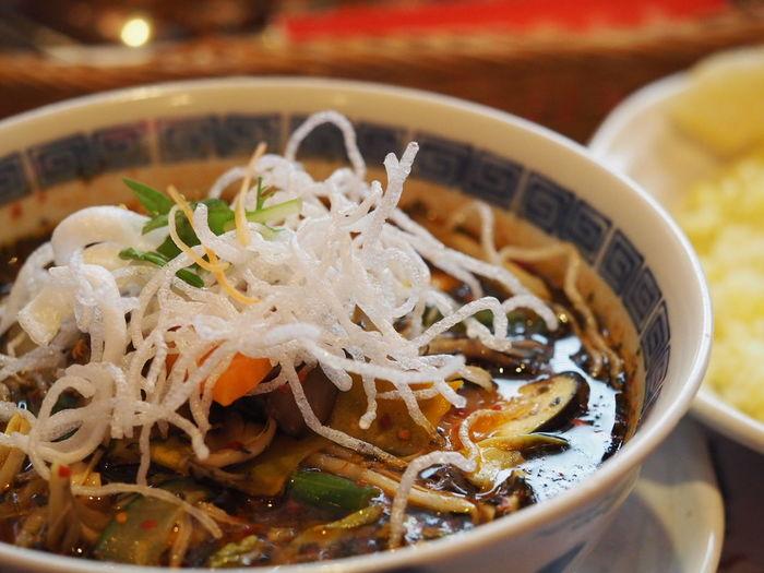 Close-up of asian food
