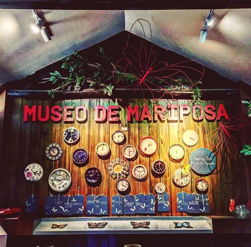Mariposa. Philippines Tranquility Clock Time Touristspot