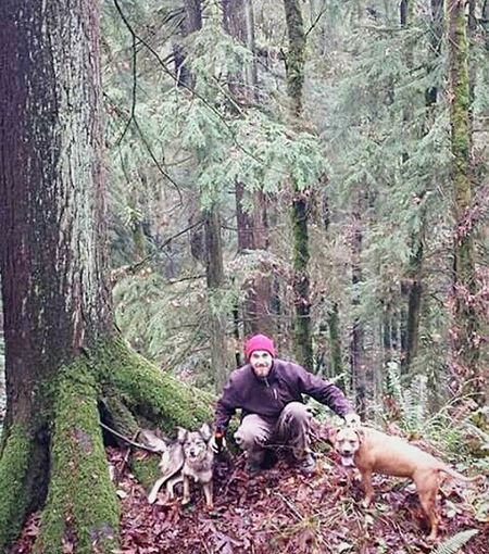 Forest Tree Nature WoodLand Adults Only Adventure Adult Outdoors People Day One Person Full Length Beauty In Nature Man One Man Only Man And Dogs Animal Themes Togetherness EyeEm Gallery Eyeem Market Streamzoofamily EyeEm Masterclass Domestic Animals Looking At Camera Cold Temperature Pet Portraits The Week On EyeEm EyeEmNewHere