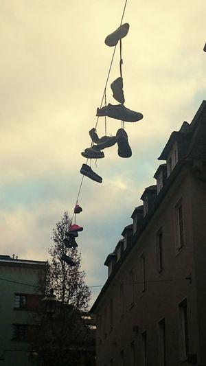 Schuhe  Shoes Hängende Schuhe Hanging Shoes Jena