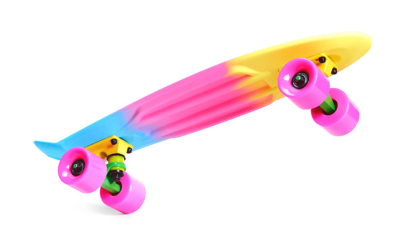 High angle view of multi colored toy