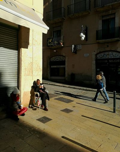 Real People Lifestyles Built Structure Women Architecture People Outdoors Day Shooting Photos Catalunyaexperience Tarragona Fotocallejera Photostreet Shadow Sunlight Sunny Winter Day Lights & Shadows Quiet Moments
