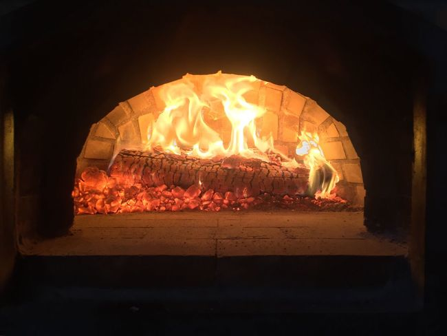 Corsican pizza oven Pizza Cooking Pizza Oven Woodfired Woodfiredpizza Wood-fired Pizza Traditional Brick Oven Pizza Brick Oven Brick Oven Baked Oven Italian Food Italian Corsican French Log Coals