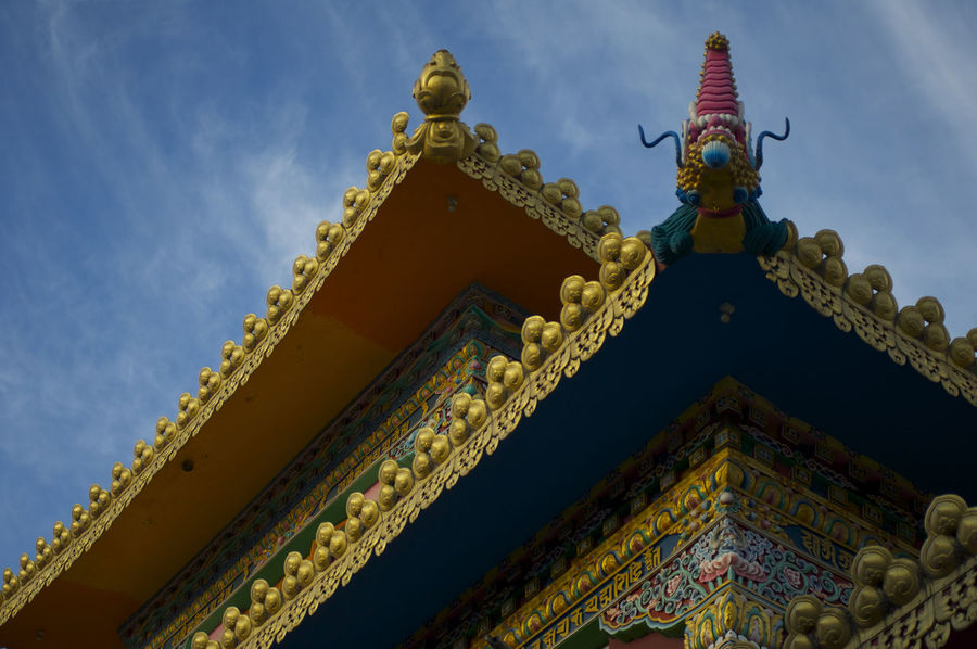 Indian Temple India Indian Temple Travel Travel Photography Architecture Building Exterior Built Structure Cloud - Sky Day Gold Colored Low Angle View Multi Colored No People Outdoors Place Of Worship Religion Sculpture Sky Spirituality Temple Travel Destinations Travel Photos