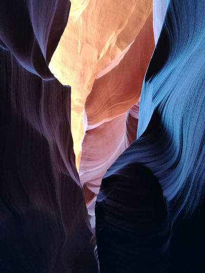 Full Frame Shot Of Rock Formation At Antelope Canyon