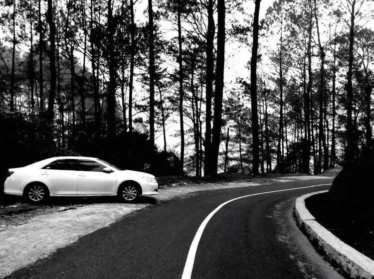 Going home. Black & White Puncaklawang Vacation