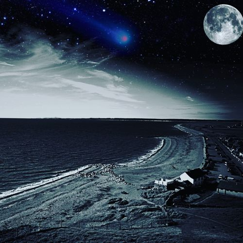Space Clear Sky Constellation Astrology Sign Star Field Scenics Horizon Over Water Moonlight Galaxy No People Outdoors