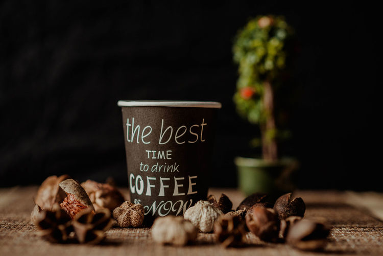 Indoors  Studio Shot Studio Coffee Coffee - Drink Coffee Cup Cup Lifestyles Lifestyle Photography Lifestlye Still Life Decoration Wood Texture Bonsai Tree Autumn Autumn colors Leaves Beautiful Background Sarajevo