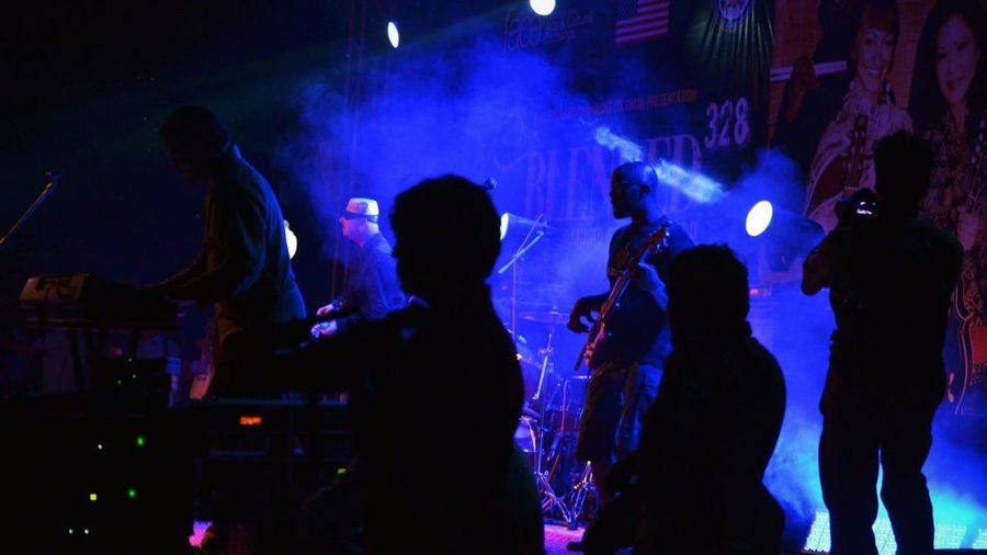 Arts Culture And Entertainment Music Nightlife Illuminated Enjoyment Performance Indoors  Togetherness Nightclub Youth Culture Fun Leisure Activity Dancing Event Night Silhouette Person Lifestyles Light - Natural Phenomenon Musician