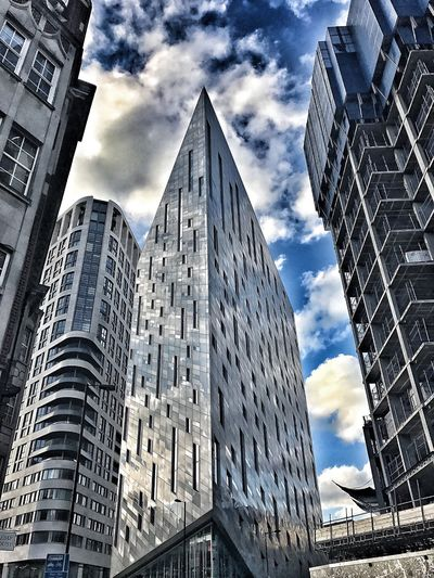 Architecture Building Exterior Built Structure Low Angle View Skyscraper Cloud - Sky City Sky Outdoors No People Day Cityscape London Montcalm