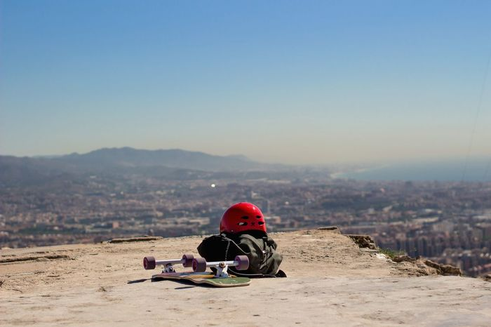 On top of barcelona Barcelona, Spain SPAIN Longboard Skateboarding Skate Topview Panorama Panoramic View View From Above Away Escape Colors Alone Exploring Sun Traveling Memories