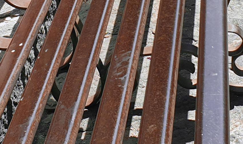 Full frame shot of rusty metallic roof