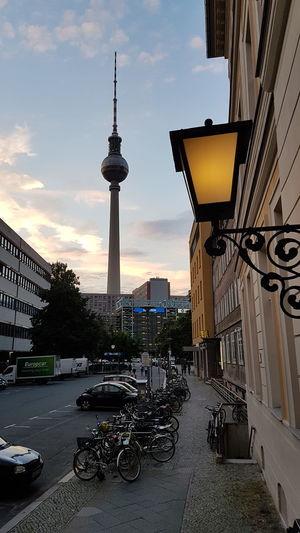 Architecture Berlin Am Abend Fernsehturm Berlin  Kloster Strasse Podewil Architecture Fernsehturm / Tv Tower