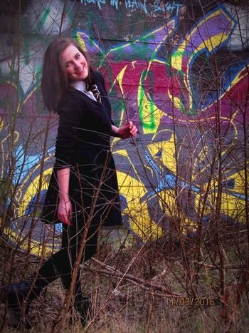 Fun Art Graffiti Messing Around Wasting Time Wasteland Eerie Scene Beautiful Nature Gothic Beauty  Happiness Bricks Rubble Trees Natural Beauty Twigs Thorns🌹 Stuck Colourful Bright Out There Vivid Gorgeous Teenagers  Youth Wall