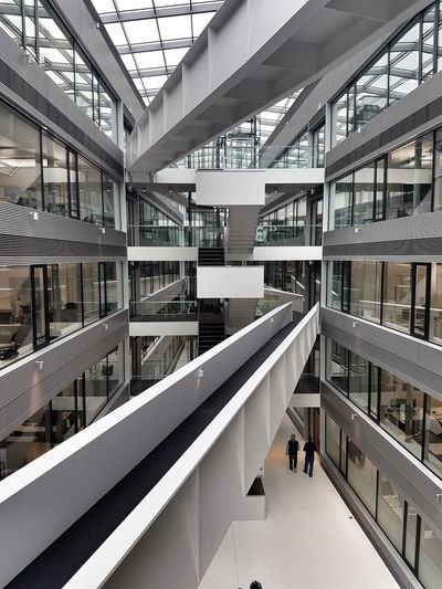 Atrium Building Interior Modern Men Architecture Built Structure Steps And Staircases Railing